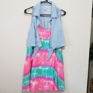 Girls Justice summer dress size 18 1/2